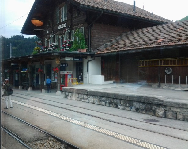 Saanen, rail station, where Simran & Raj drank coffee & talked about love