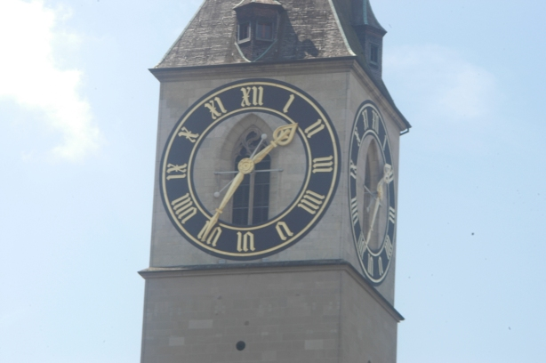 Europe's biggest clock face, St. Peter, Zurich