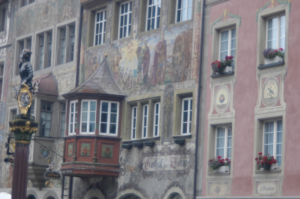 A little glimpse of the wall paintings in Stein am Rhein