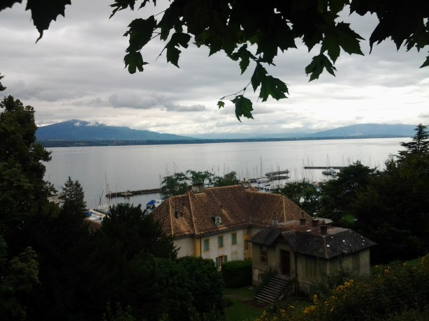 A beautiful view over Nyon & Lake Leman
